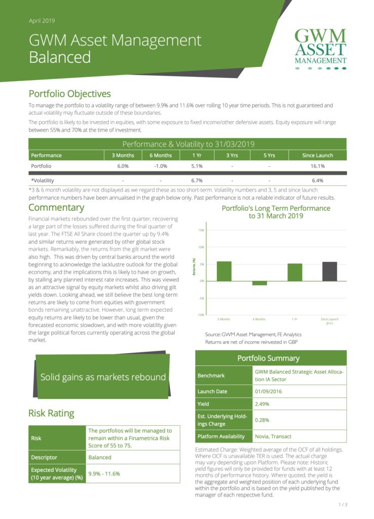 portfolio risk balanced